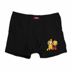 Мужские трусы Mickey and Pikachu