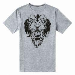 Мужская стрейчевая футболка Muzzle of a lion