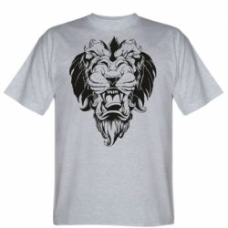 Мужская футболка Muzzle of a lion