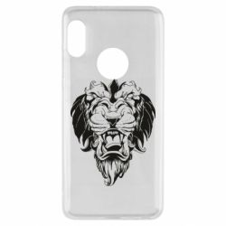 Чехол для Xiaomi Redmi Note 5 Muzzle of a lion