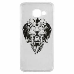 Чехол для Samsung A3 2016 Muzzle of a lion