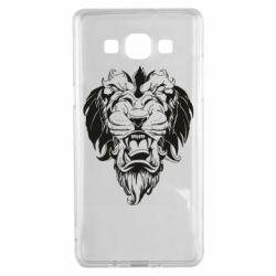 Чехол для Samsung A5 2015 Muzzle of a lion