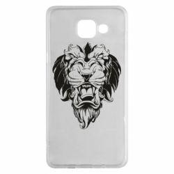 Чехол для Samsung A5 2016 Muzzle of a lion