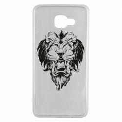Чехол для Samsung A7 2016 Muzzle of a lion