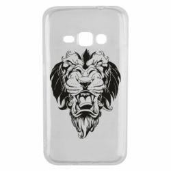 Чехол для Samsung J1 2016 Muzzle of a lion