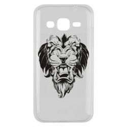 Чехол для Samsung J2 2015 Muzzle of a lion