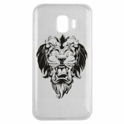 Чехол для Samsung J2 2018 Muzzle of a lion