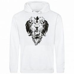 Мужская толстовка Muzzle of a lion