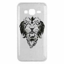 Чехол для Samsung J3 2016 Muzzle of a lion