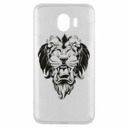 Чехол для Samsung J4 Muzzle of a lion