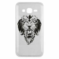 Чехол для Samsung J5 2015 Muzzle of a lion