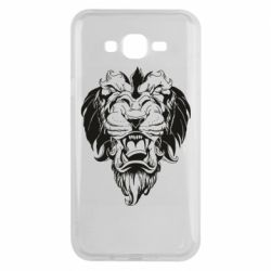 Чехол для Samsung J7 2015 Muzzle of a lion