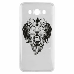 Чехол для Samsung J7 2016 Muzzle of a lion