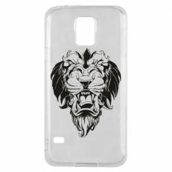 Чехол для Samsung S5 Muzzle of a lion