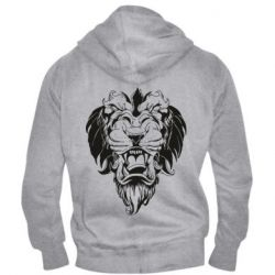 Мужская толстовка на молнии Muzzle of a lion