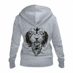 Женская толстовка на молнии Muzzle of a lion