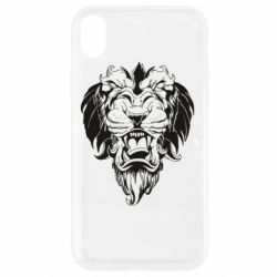 Чехол для iPhone XR Muzzle of a lion