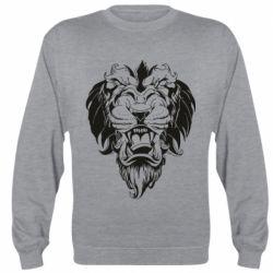 Реглан (свитшот) Muzzle of a lion