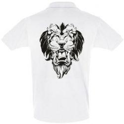 Мужская футболка поло Muzzle of a lion