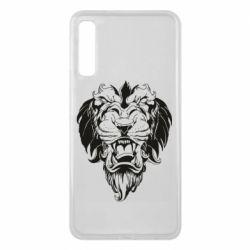 Чехол для Samsung A7 2018 Muzzle of a lion