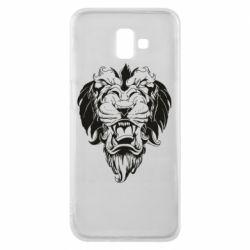 Чехол для Samsung J6 Plus 2018 Muzzle of a lion