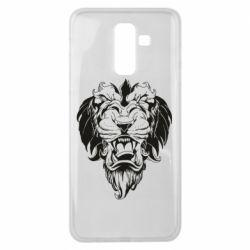 Чехол для Samsung J8 2018 Muzzle of a lion