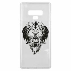 Чехол для Samsung Note 9 Muzzle of a lion