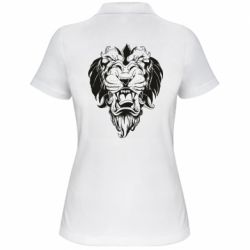 Женская футболка поло Muzzle of a lion
