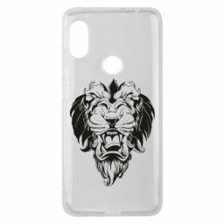 Чехол для Xiaomi Redmi Note 6 Pro Muzzle of a lion