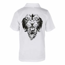Детская футболка поло Muzzle of a lion