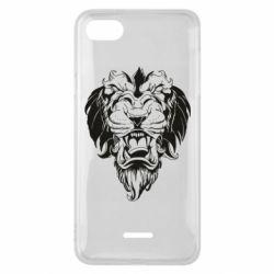 Чехол для Xiaomi Redmi 6A Muzzle of a lion