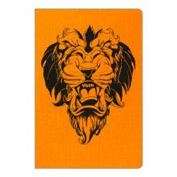 Блокнот А5 Muzzle of a lion