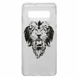Чехол для Samsung S10+ Muzzle of a lion