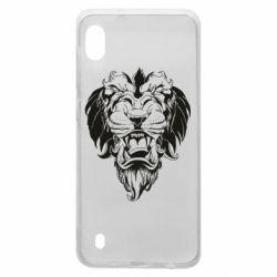 Чехол для Samsung A10 Muzzle of a lion