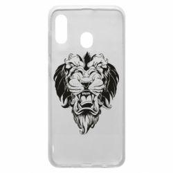 Чехол для Samsung A20 Muzzle of a lion