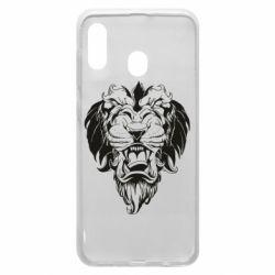 Чехол для Samsung A30 Muzzle of a lion