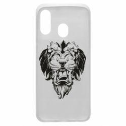 Чехол для Samsung A40 Muzzle of a lion