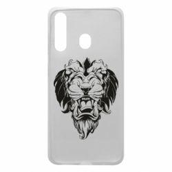 Чехол для Samsung A60 Muzzle of a lion