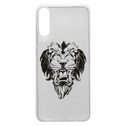 Чехол для Samsung A70 Muzzle of a lion