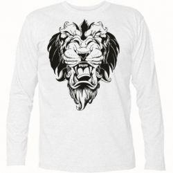 Футболка с длинным рукавом Muzzle of a lion