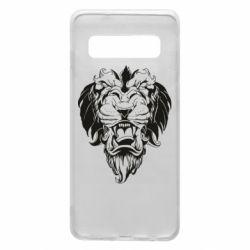 Чехол для Samsung S10 Muzzle of a lion