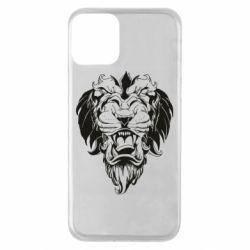 Чехол для iPhone 11 Muzzle of a lion