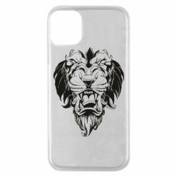 Чехол для iPhone 11 Pro Muzzle of a lion