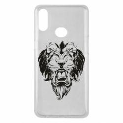 Чехол для Samsung A10s Muzzle of a lion