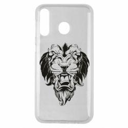 Чехол для Samsung M30 Muzzle of a lion