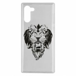 Чехол для Samsung Note 10 Muzzle of a lion