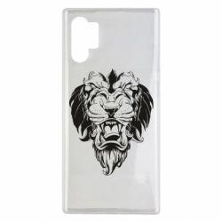 Чехол для Samsung Note 10 Plus Muzzle of a lion