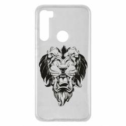 Чехол для Xiaomi Redmi Note 8 Muzzle of a lion