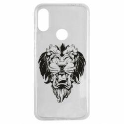 Чехол для Xiaomi Redmi Note 7 Muzzle of a lion