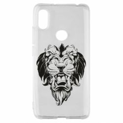 Чехол для Xiaomi Redmi S2 Muzzle of a lion